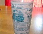 Souvenir glass Chicago Burlington and Quincy Railroad by Klett 1977 vintage
