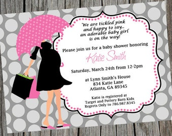 Mod Mom Baby Shower Invitation