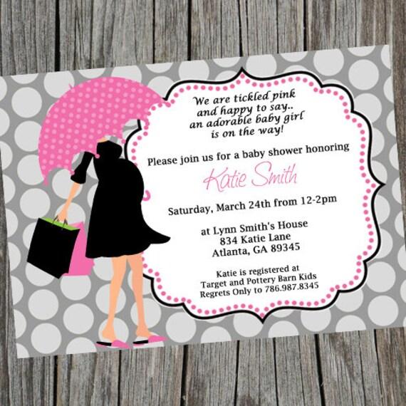 Mod Mom Baby Shower Invitation