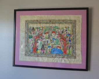 mid century MODERN art WALL hanging picture