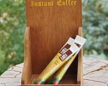 Coffee Caddy Mahogony  Tundra Made in Japan mid Century