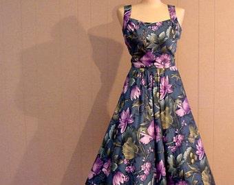 Berin Stark Tropical Storm Summer Dress  60s Vintage Small