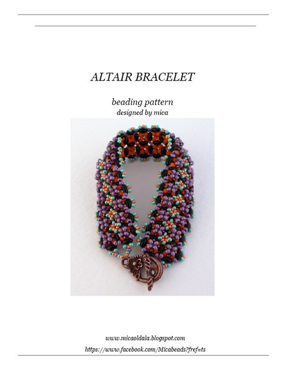 Altair Bracelet - Beading Pattern/Tutorial - PDF file for personal use only