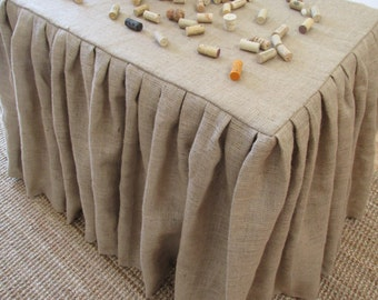 Natural Burlap Table Cloth - 10oz. -  Square, Rectangle, OR Round - SELECT A SIZE
