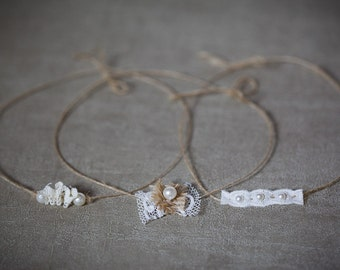 Petite headbands for newborn photography - set of 3