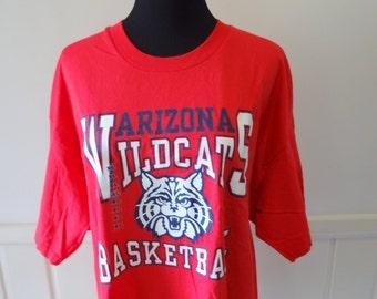 Vintage Arizona Wildcats Basketball T-shirt 1994