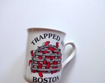 Vintage Boston Souvenir Coffee Mug 1980s