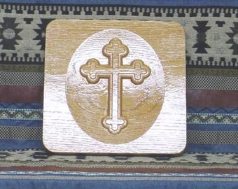 Plaque Carved Cross
