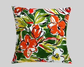 "Decorative Pillow case, Multicolored Abstract Flower Patterned decorative fabric throw pillow case, fits 20""x 20"" insert, Toss pillow case"