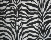 "Two 96"" x 50""  Custom Curtain Panels - Rod Pocket Panels-Zebra Stripes Black/White"