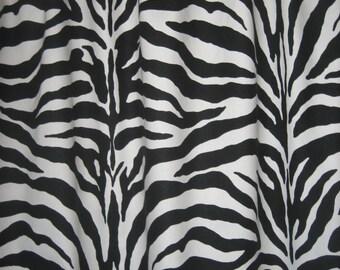 "Two 96"" x 50""  Custom Curtain Panels - Rod Pocket Panels-Zebra Stripes Black/White"