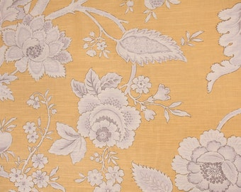 Two 26 x 26 Custom Designer Decorative Pillow Covers  - Large Floral - Yellow