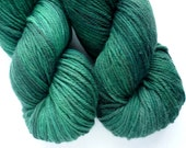 Worsted Yarn - Hand Dyed Superwash Merino Wool in Emerald Isle Colorway