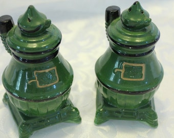 Pot Belly Stove Vintage Salt and Pepper shakers