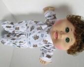 "14"" Boy Baby Cabbage Patch Sleepy Bear Print Pajamas"