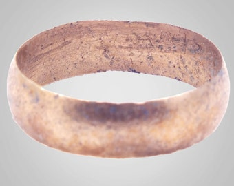Authentic Ancient Viking  wedding Ring Band  C.866-1067A.D. Size 10 1/4  (20.5mm)(BRR424)