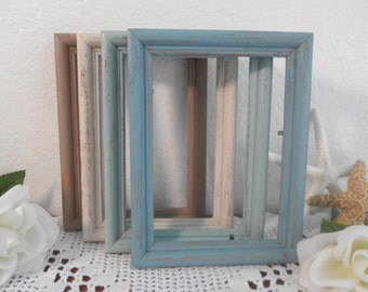 Beach Wedding Frame Rustic Shabby Chic Distressed 5 x 7 Picture Photo Table Number Decoration Cottage Home Decor Birthday Gift For Her Him