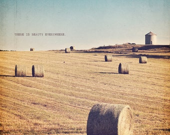 Farm Photography, Haystack Print, Cottage Wall Art, Haystack Photo, Haystack Art, Farm Photo, Farm Print, Countryside Art, Countryside Photo