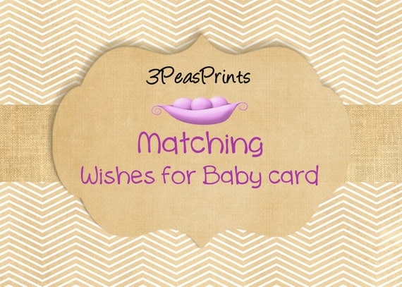 Custom Matching Wishes for Baby Advice Card Printable Digital File