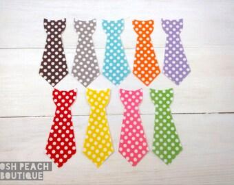 DIY Iron on Tie Applique // Mini Dots
