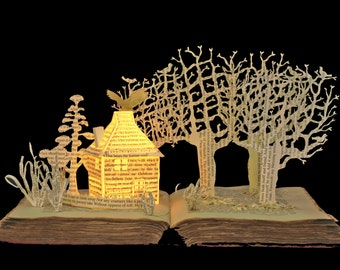 The Dovecote - 5x7 greeting card of an altered book sculpture