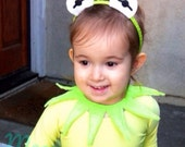 Kermit the Frog Muppet Eyes Green Headband and Point Collar (fits kids and adults)