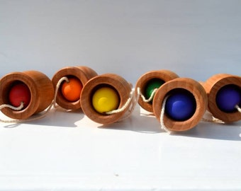 Ball and Cup Game Classic Montessori & Waldorf Inspired Wooden Toy