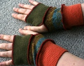 Recycled Wool Fingerless Mittens