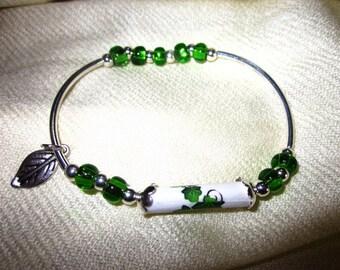 Paper Bead Bracelet - Ivy - paper jewelry