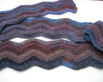 Crochet Scarf - Wavy, Soft, Lightweight and Warm