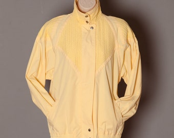 80s Light Yellow Jacket - M