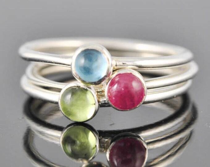 Sky blue topaz ring, gemstone ring, stacking ring, march birthstone ring, personalized ring, bridesmaid ring, bridesmaid gift, aquamarine