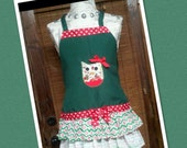 Christmas Apron / Retro Inspired Apron