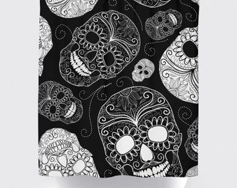 Shower Curtain And More   Sugar SkullsBlack And White Simple Skulls | See  Dropdown For Pricing