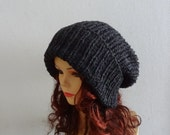 Super Slouchy Beanie Big Slouch Baggy Hat Winter Adult Teen Fashion Chunky Knit Slouch Knitted Hat Large Men Oversized Hat Chunky  ANY COLOR