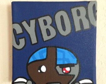 5in x 5in cyborg Painting