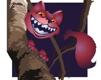 Cheshire Cat Illustration Print