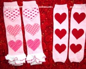 Valentines Day Ruffle leg warmers pink heart fancy ruffle crochet baby girl first dress up 6 9 12 18 24 m 2t 3t 4t 5 6 7 8  toddler