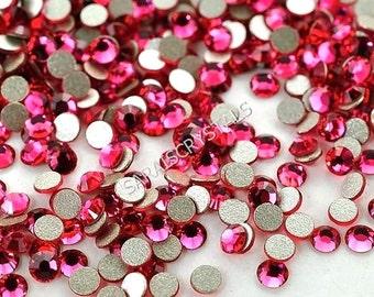 50 pcs Swarovski Crystal Flatbacks Indian Pink 10ss (2.7 - 2.9mm) SS10 2028 Xilion