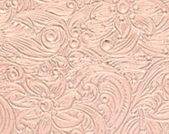 "Textured Copper Sheet 6"" X 2.5"" (CU85) Large Bracelet Size Texture Metal - 24 Gauge - Jewelry Metal"