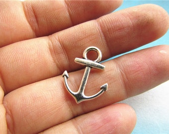 50pcs18.7x15mm antiqued silver boat anchor findings