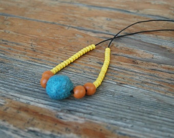 Colorful beaded necklace,long boho necklace