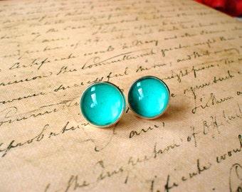20% OFF -- Sky Blue earring stud,Ocean style earrings,gift idea