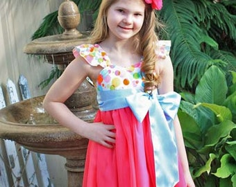 Bethany's Tween Fancy Party Dress PDF Pattern Sizes 7/8 to 15/16 girls