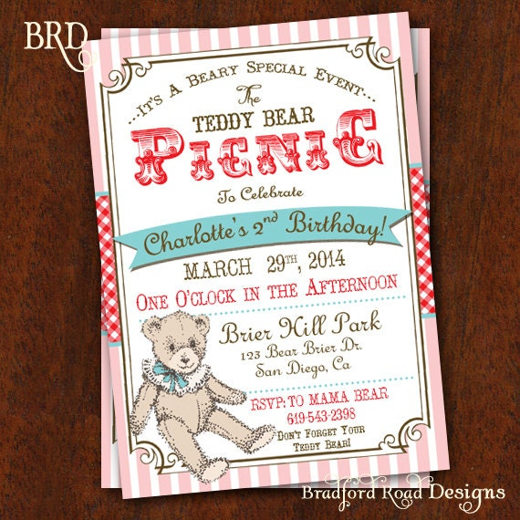 Teddy bear picnic – Teddy Bears Picnic Party Invitations