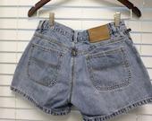 Vintage 80s Ralph Lauren Polo Jean Shorts / Jeans / Denim XS Size 2 / 100% Cotton Grunge 90s Hipster