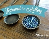 RESERVED FOR MALLORY (Mini Gold Bottle Cap Necklace)