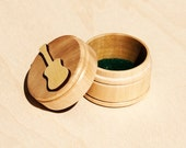Handcrafted Guitar Pick Storage Box / Container - Guitar