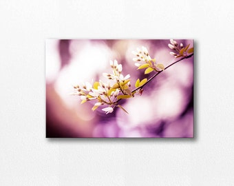floral canvas wrap flower photography canvas 12x12 24x36 fine art photography botanical canvas print large nature photography plum wall art