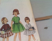 Retro Toddler Dress Pattern - Vintage Shirtwaist Dress Design by Simplicity, Mid Century School Clothes Sewing Pattern, Seamstress Pattern